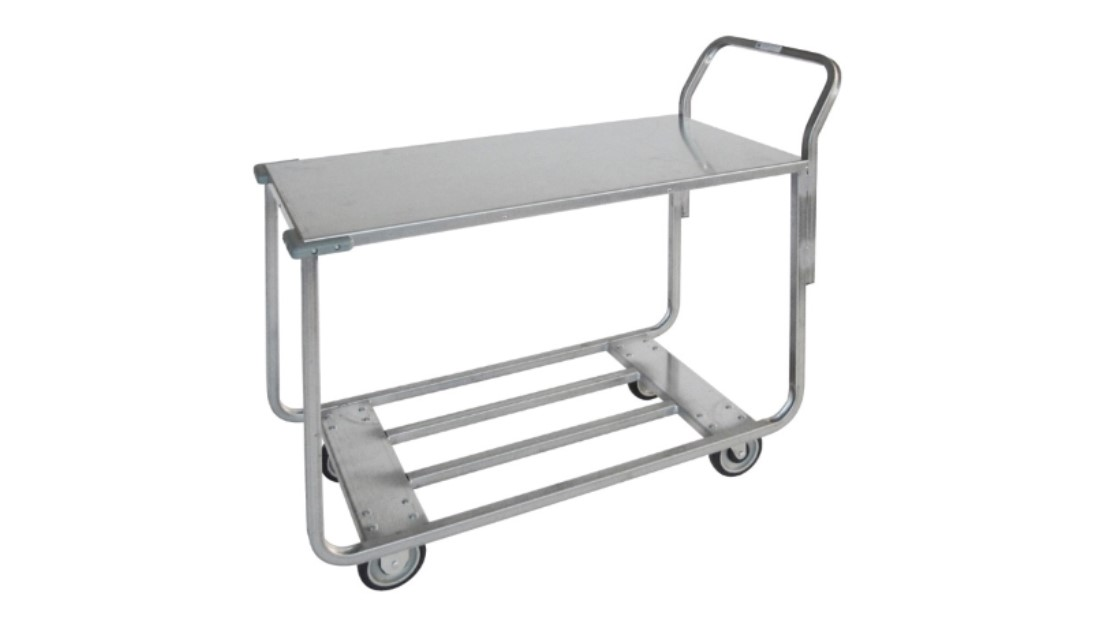 350 200 Metal Cart W Metal Tray Top