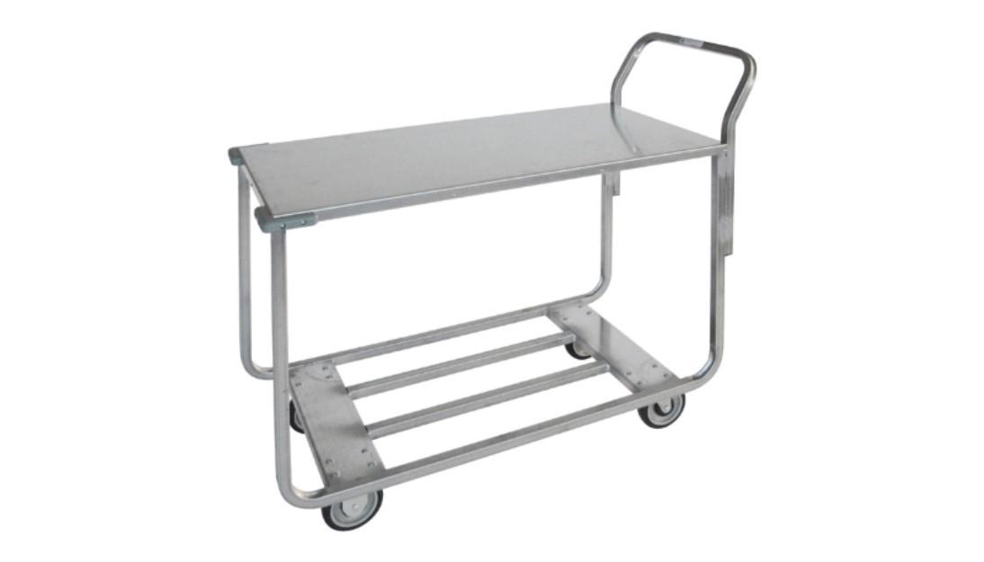350 200 Metal Cart W Metal Tray Top